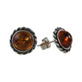 "Sterling Silver and Baltic Honey Amber Earrings ""Catalina"""