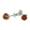 "Sterling Silver and Baltic Honey Amber Earrings ""Sadie"""