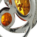 """Sterling Silver Baltic Amber Pendant """"Ava"""""""