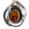 """Sterling Silver and Baltic Honey Amber Earrings """"Shawn"""""""