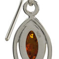 """Sterling Silver and Baltic Honey Amber Earrings """"Patricia"""""""