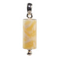 Sterling Silver and Baltic Butterscotch Amber Tube Pendant