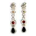 """Sterling Silver and Baltic Multicolored Amber Earrings """"Evie"""""""