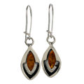 "Sterling Silver and Baltic Honey Amber Earrings ""Penelope"""