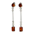 "Sterling Silver and Baltic Honey Amber Earrings ""Ariana"""