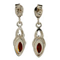 """Sterling Silver and Baltic Honey Amber Earrings """"Tricia"""""""