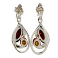 "Sterling Silver and Baltic Honey Amber Earrings ""Ava"""