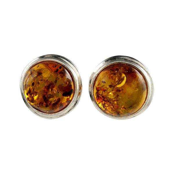 "Sterling Silver and Baltic Honey Amber Earrings ""Savannah"""