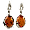 "Sterling Silver and Baltic Honey Amber Earrings ""Aly"""