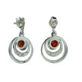 "Sterling Silver and Baltic Honey Amber Earrings ""Aleta"""
