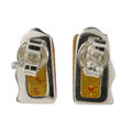 """Sterling Silver and Baltic Honey Amber Earrings """"Ewa"""""""