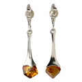 "Sterling Silver and Baltic Honey Amber Earrings ""Kylie"""
