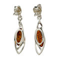 """Sterling Silver and Baltic Honey Amber Earrings """"Milena"""""""