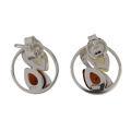 Sterling Silver Baltic Honey and Lemon Amber Stud Earrings
