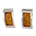 "Sterling Silver and Baltic Honey Amber Earrings ""Kalinda"""
