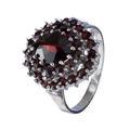 Bohemian Garnet Sterling Silver Tiered Ring