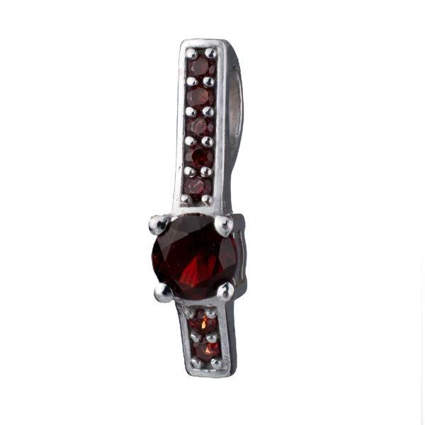 Bohemian Garnet Sterling Silver Pendant