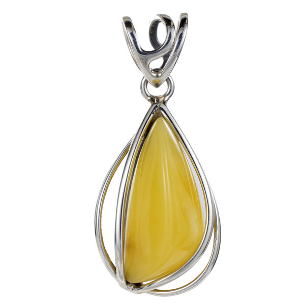 Sterling Silver and  Baltic Butterscotch Amber Pendant