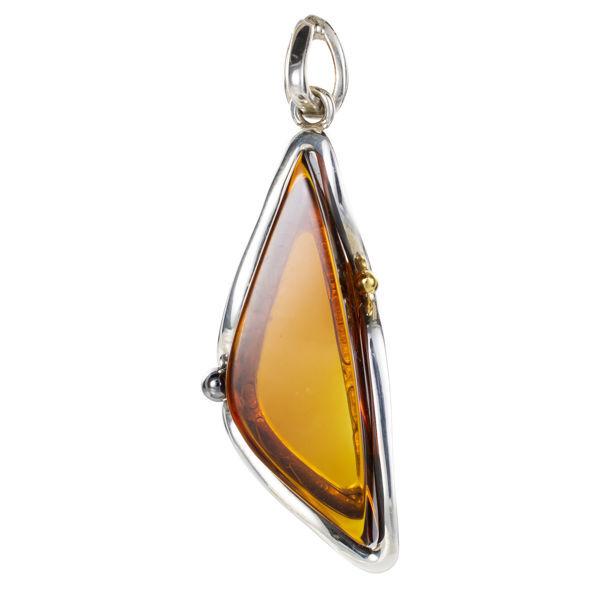 Sterling Silver Honey Baltic Amber Pendant